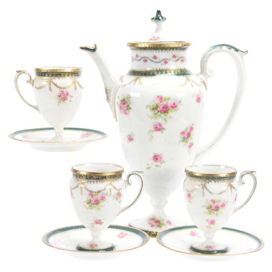 Pedestal Coffee Set, Marked R.S. Prussia