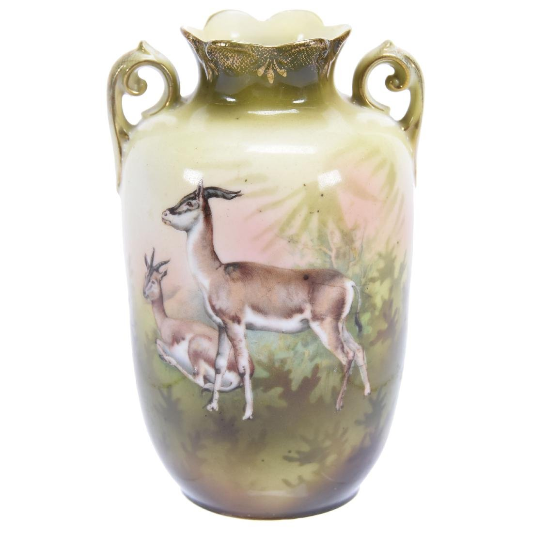 """Rare Two Handled Vase, Marked R.S. Prussia 5"""""""