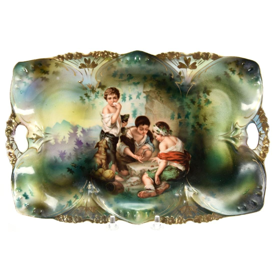"""Dresser Tray, Marked R.S. Prussia 12"""""""