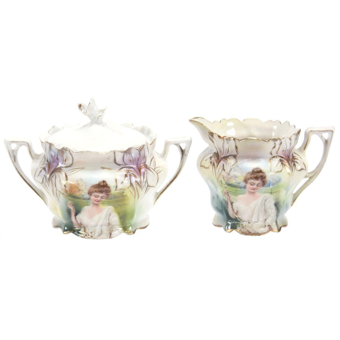 Child's Creamer & Sugar, Marked R.S. Prussia 3""