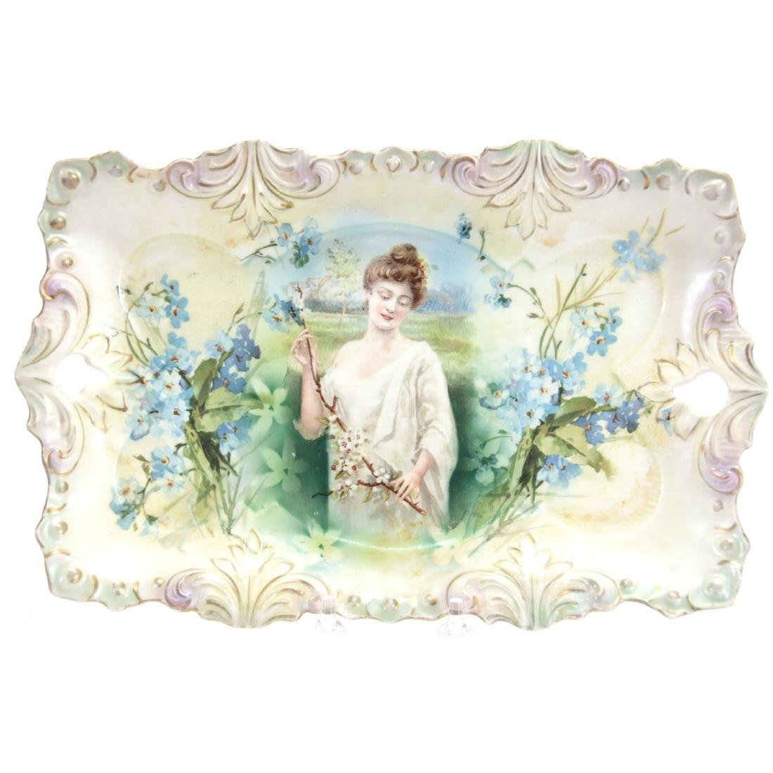 """Dresser Tray, Marked R.S. Prussia 11.75"""""""