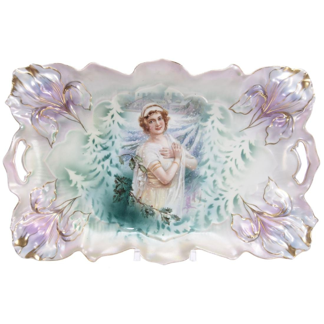 """Dresser Tray, Marked R.S. Prussia 11"""""""