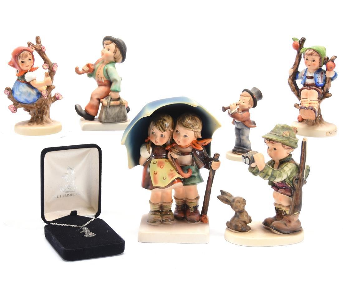 (6) Hummel Figurines; (1) Pendant