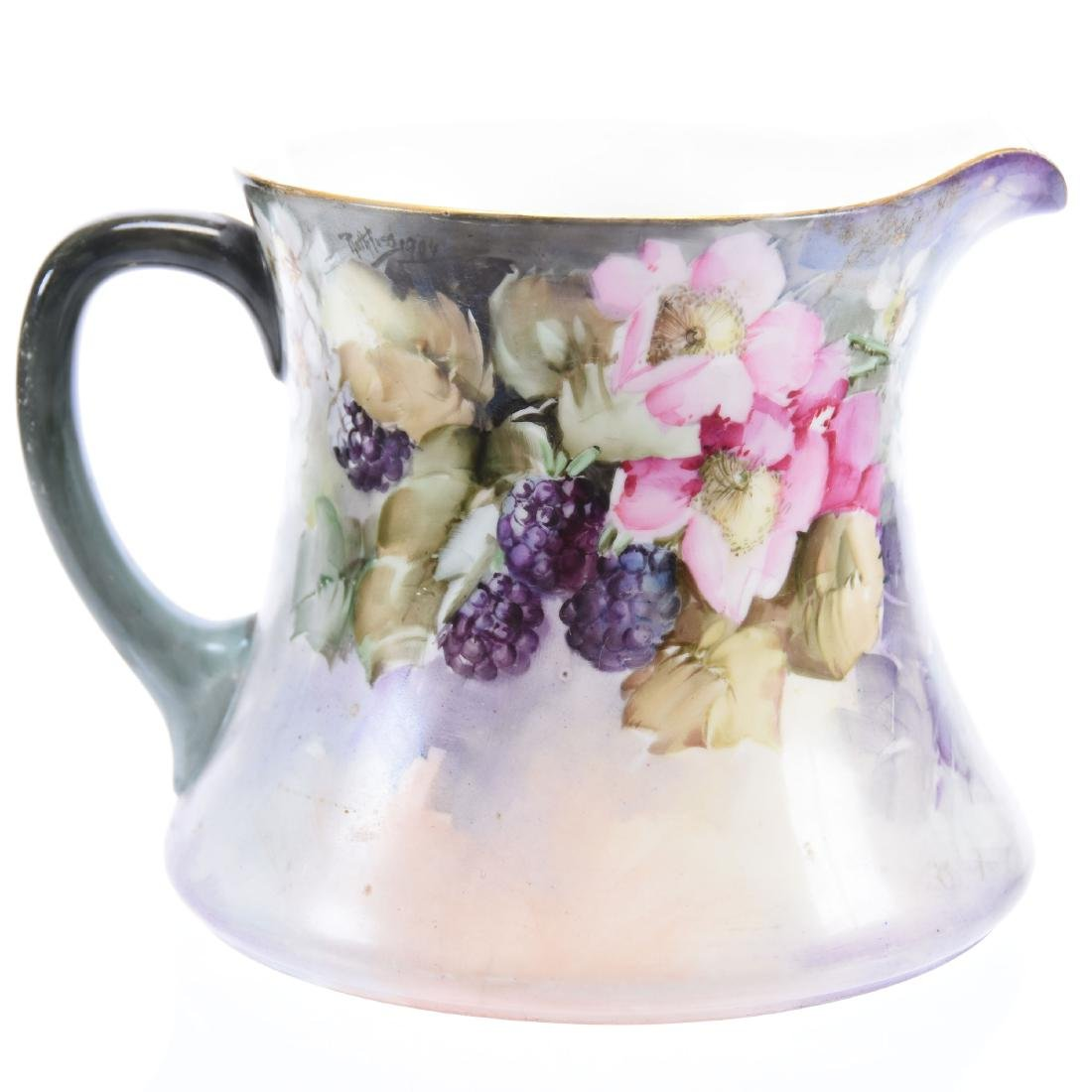 Cider Pitcher, Marked Limoges Hand-Painted