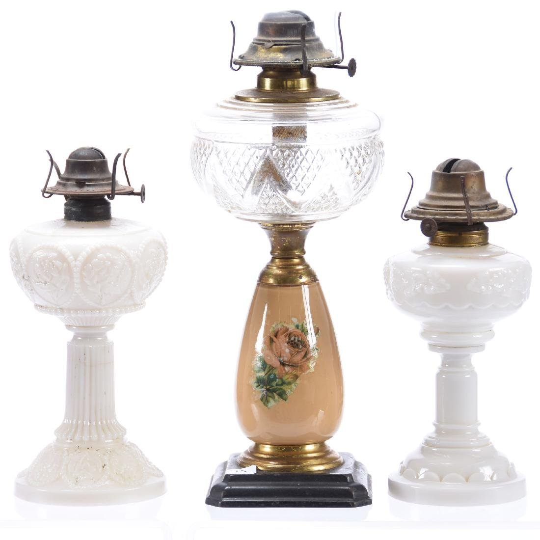 (3) Kerosene Lamps, Various