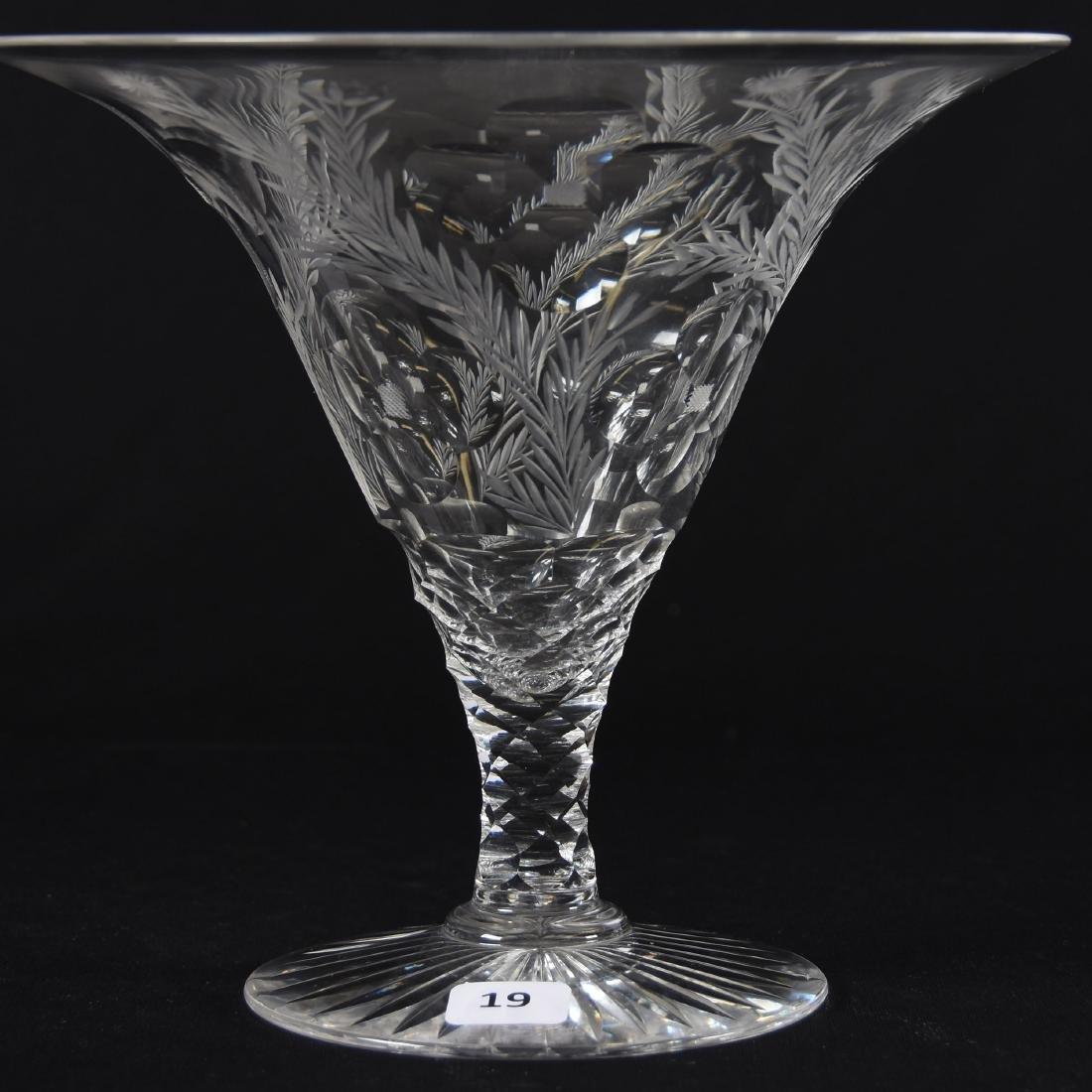 Tazza, American Brilliant Cut Glass