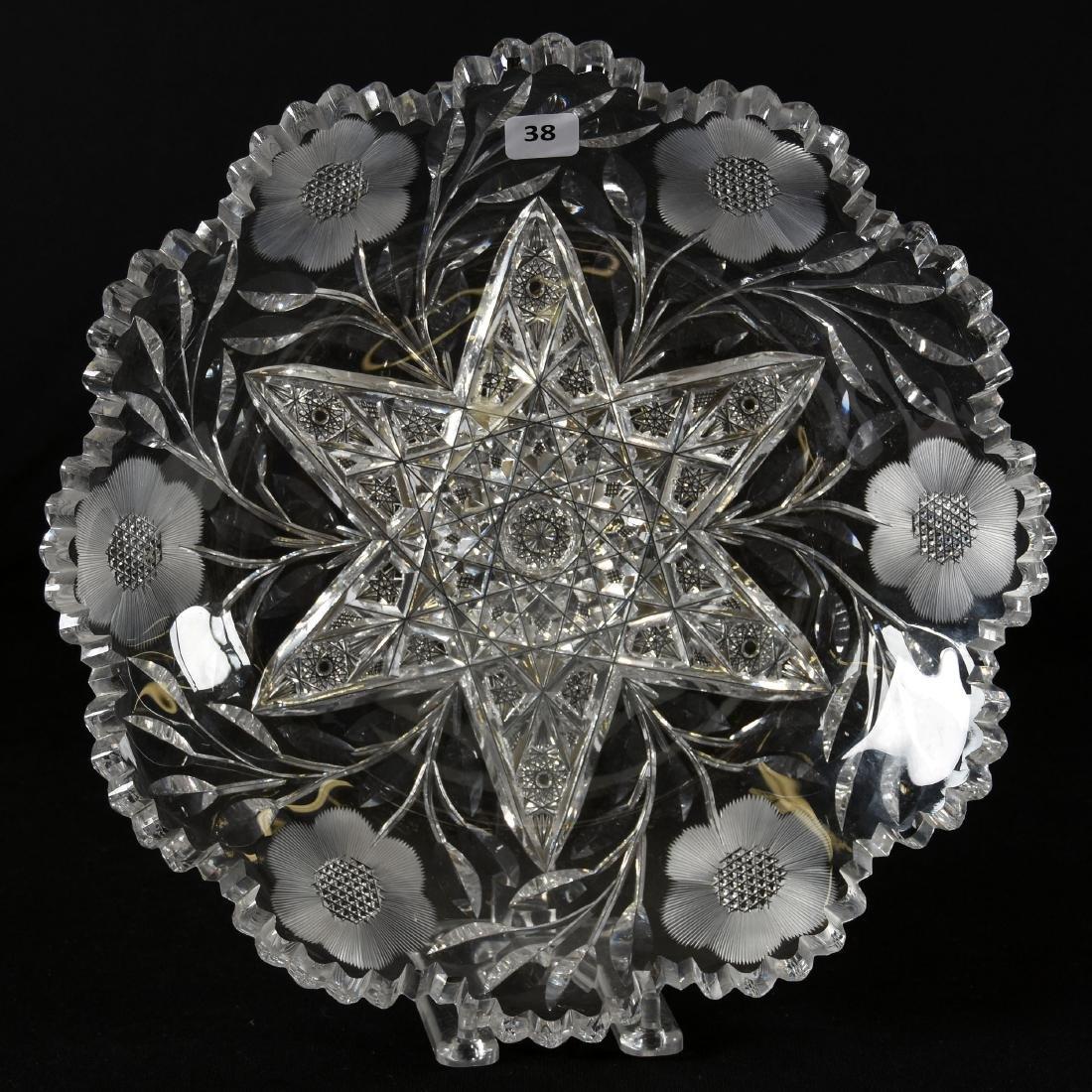 Tray, American Brilliant Cut Glass