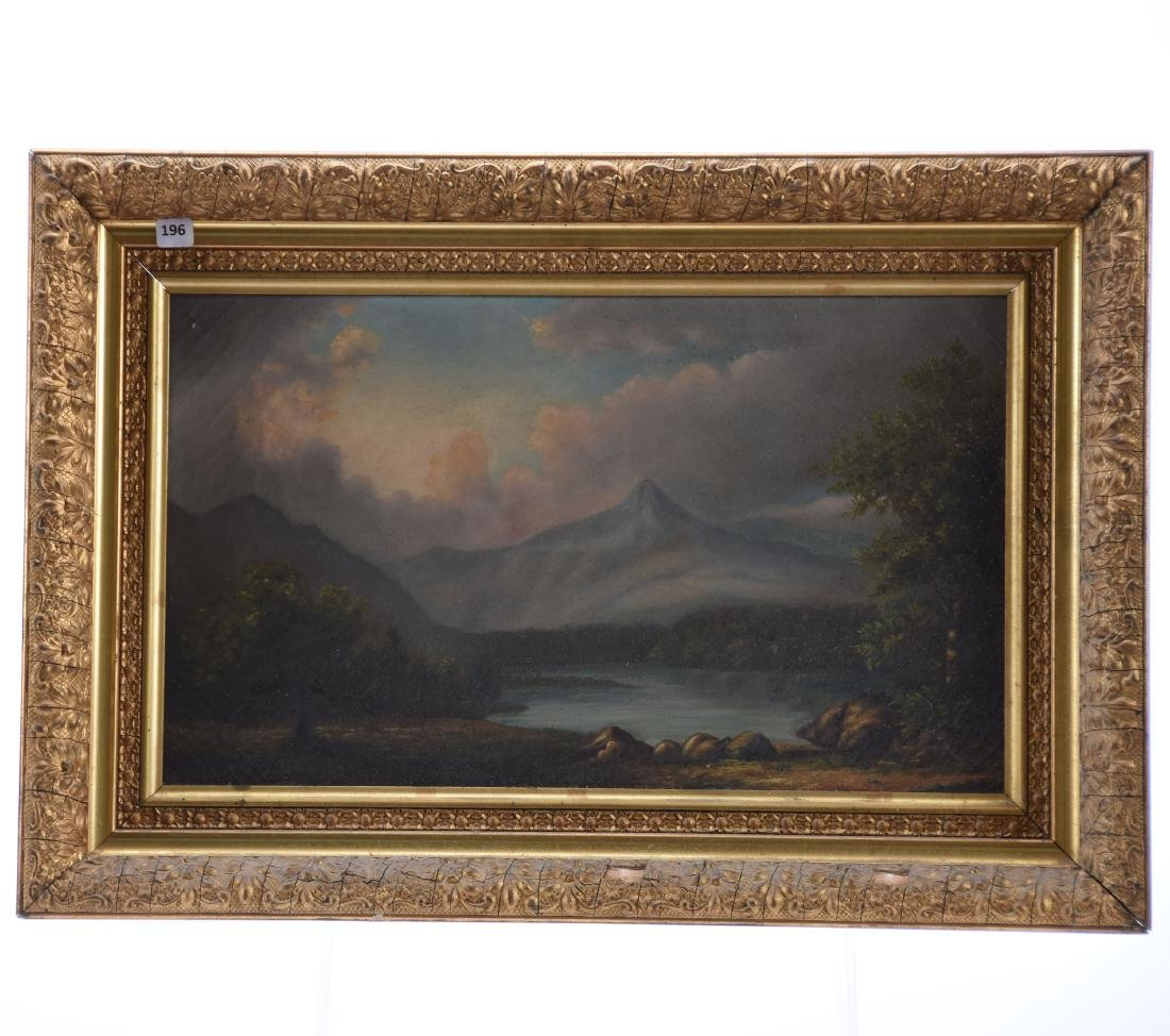 Oil Painting on Canvas, Signed, Mountain & Lake