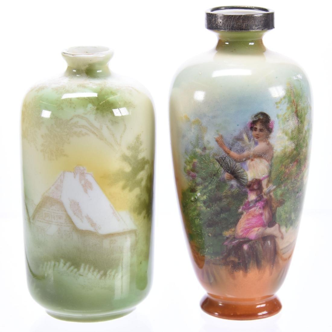 (2) Miniature Vases