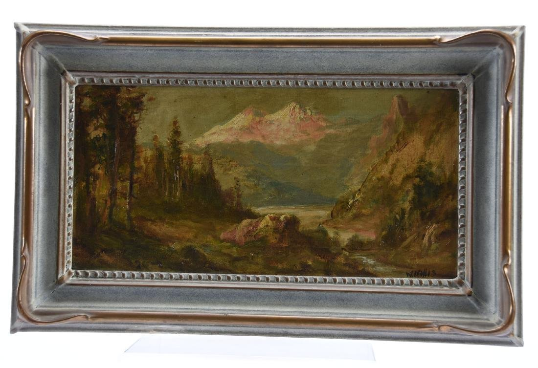 Oil Painting on Canvas, Signed W. Willif, Landscape