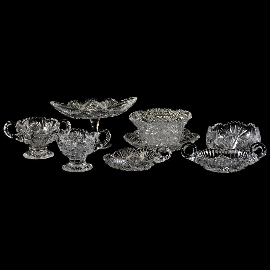 (6) American Brilliant Period Cut Glass Items