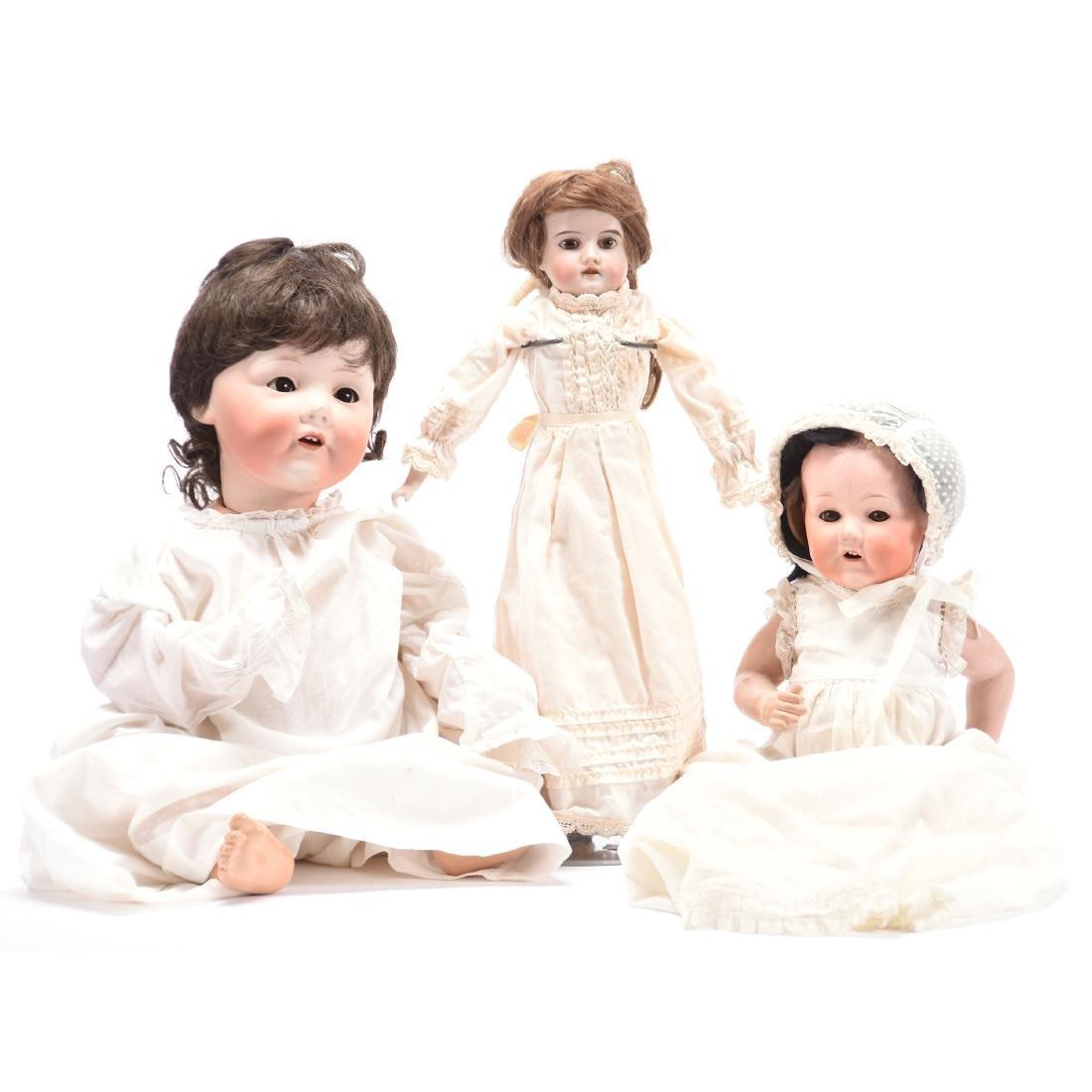 (3) Antique Bisque Dolls