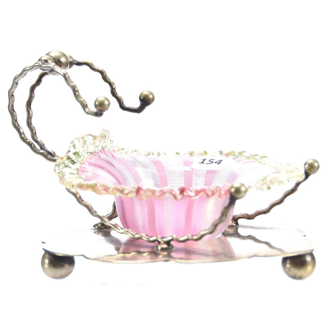 Sweetmeat Dish, Silverplate Frame