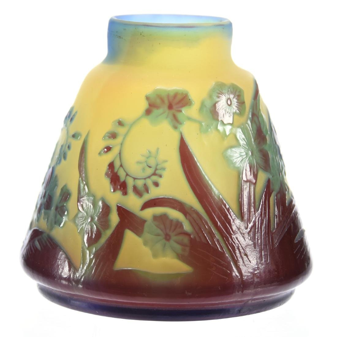 French Cameo Vase, Signed Galle