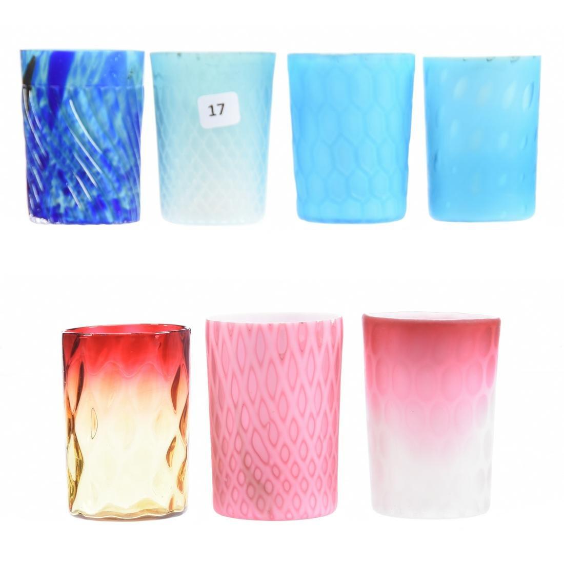 (7) Art Glass Tumblers