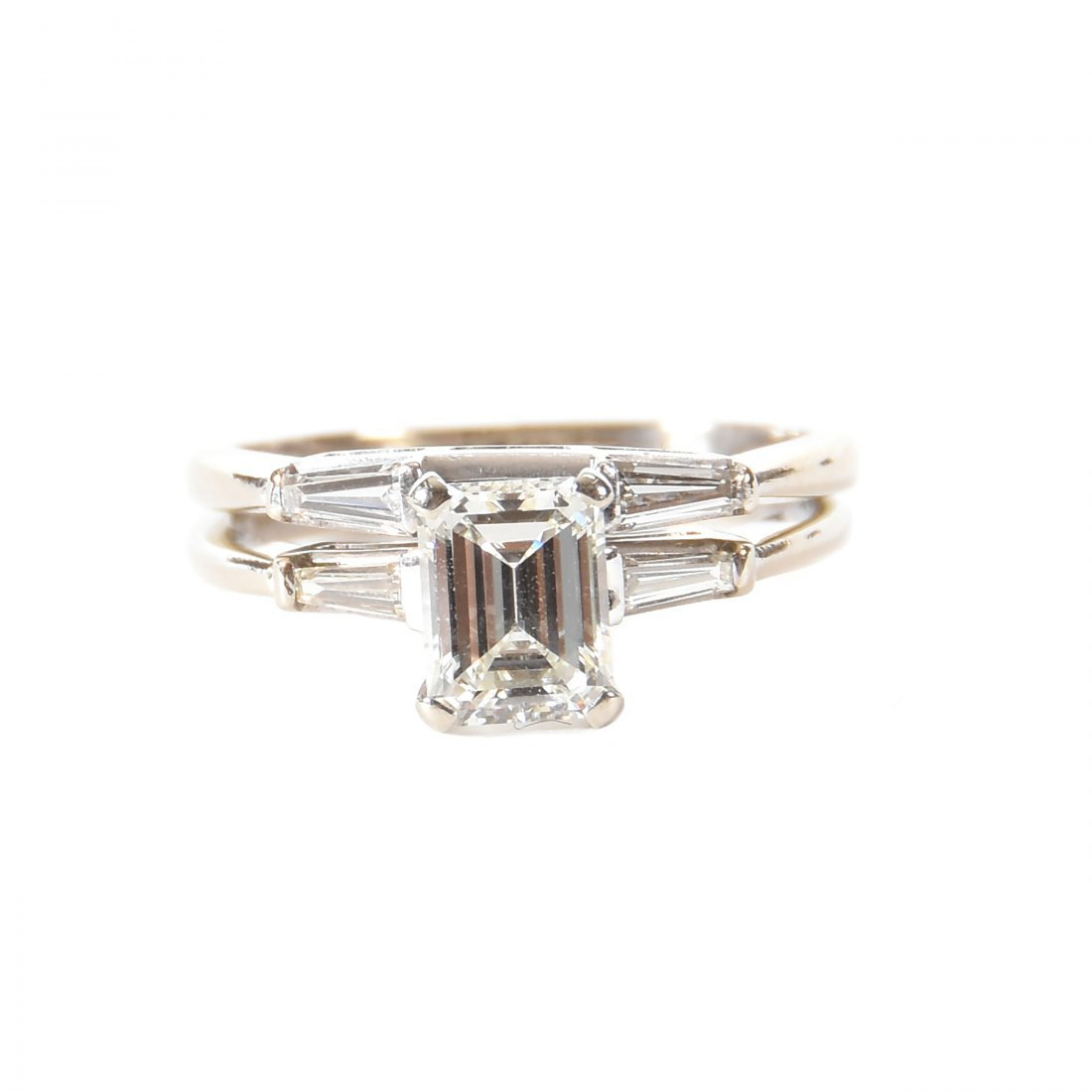 Classic Three Stone Diamond Engagement Ring & Tracer