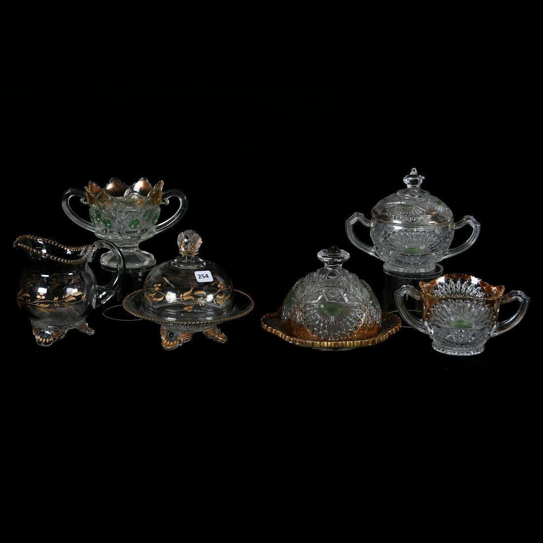 (6) Pattern Glass Items