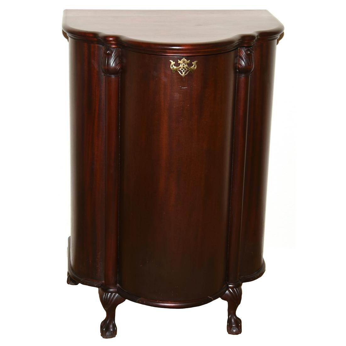 Mahogany Clover Shaped Music Disc Cabinet