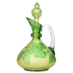 Handled Decanter Attributed to Stevens & Williams