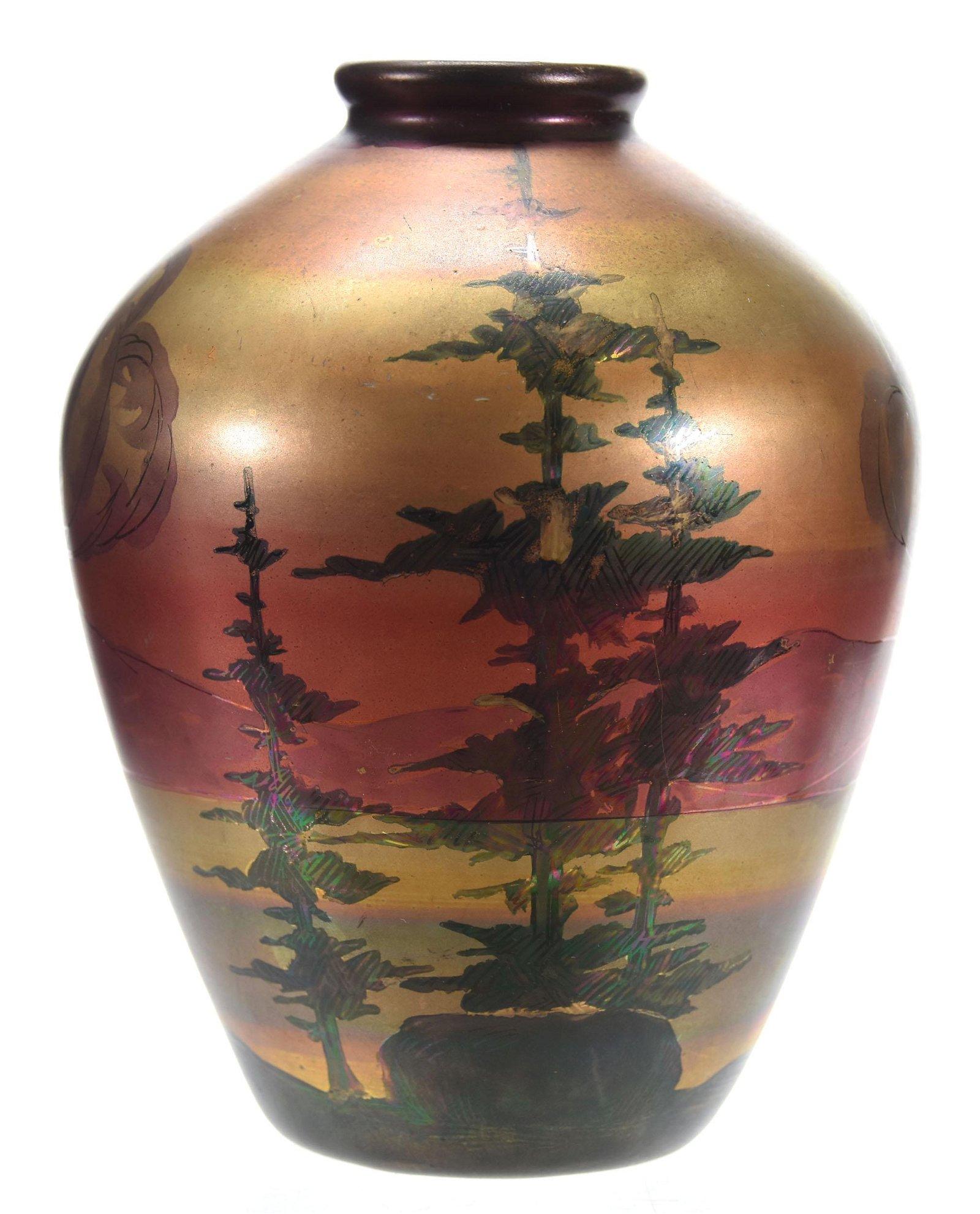 Art Pottery Vase, Signed Weller Lasa