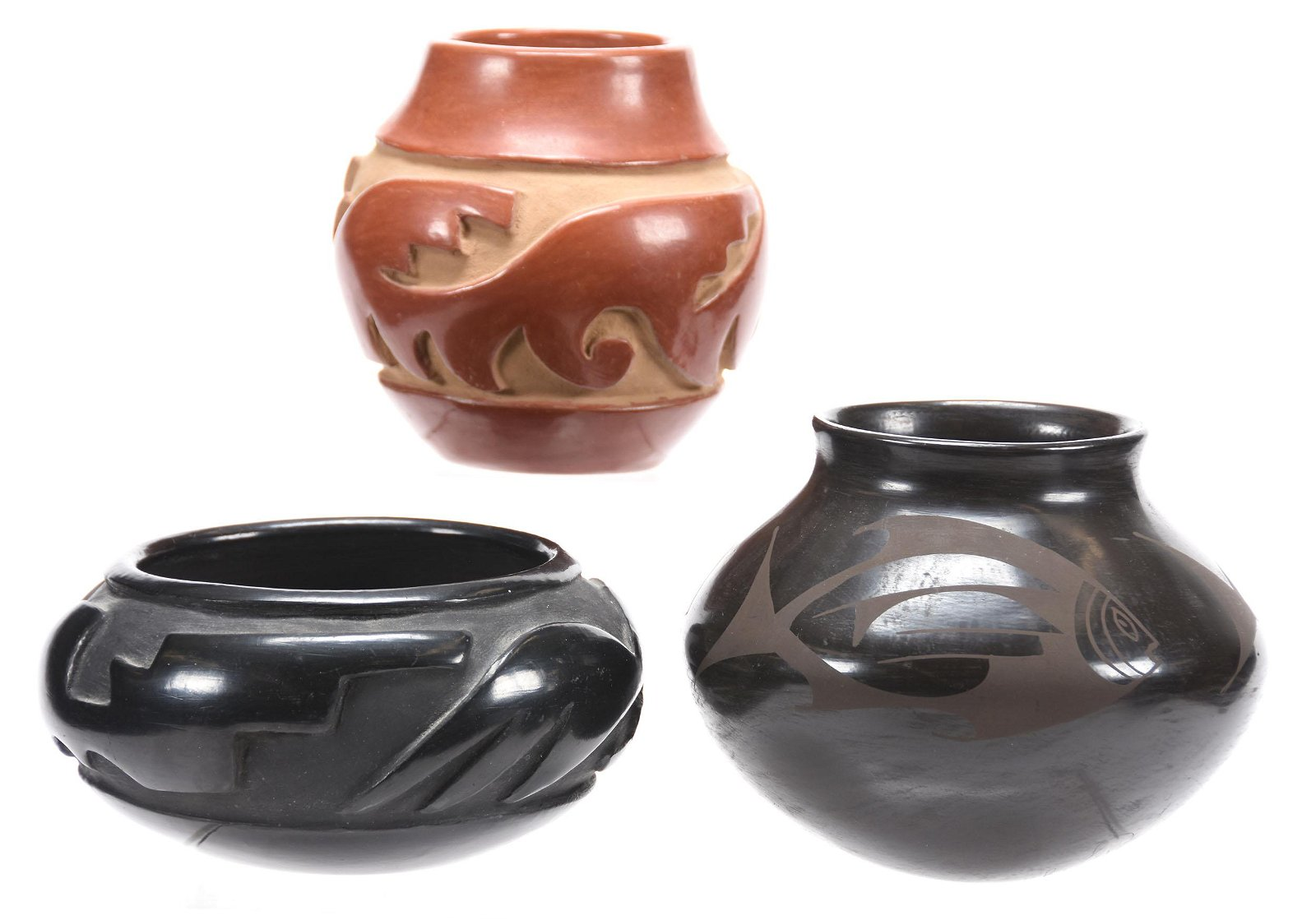 (3) Indian Pottery Items
