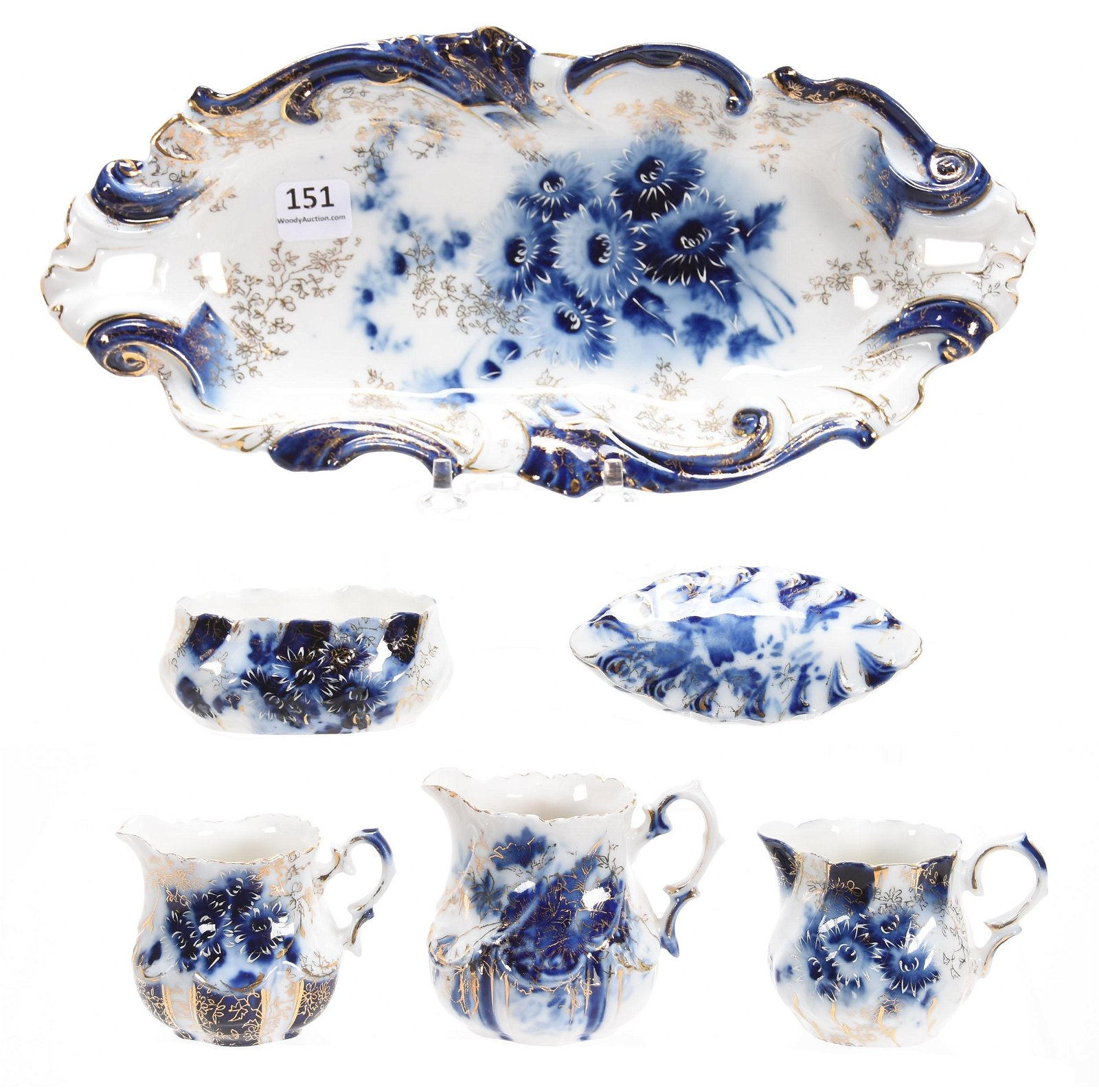 (6) Assorted Items, Marked RSG, Cobalt Blue & White