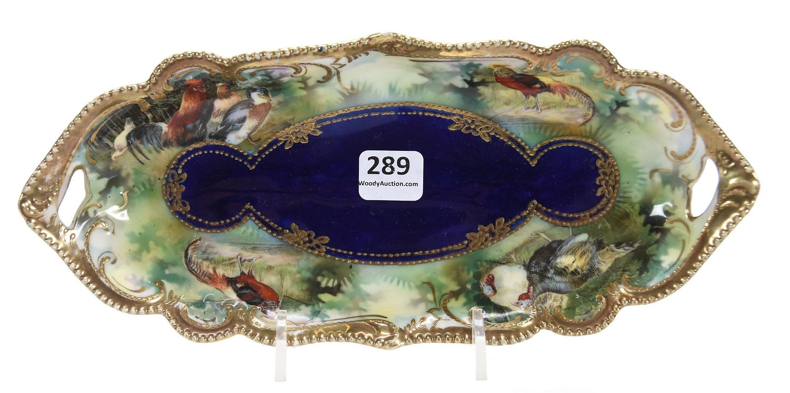 Relish Tray, Marked RSP, Mold 304, Triple Scene