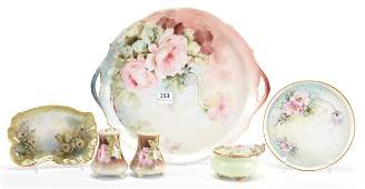 (6) Misc. porcelain hand painted items