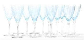 (13) Fostoria Versailles pattern water goblets