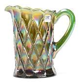 Carnival Glass Water Pitcher Diamonds by Millersburg