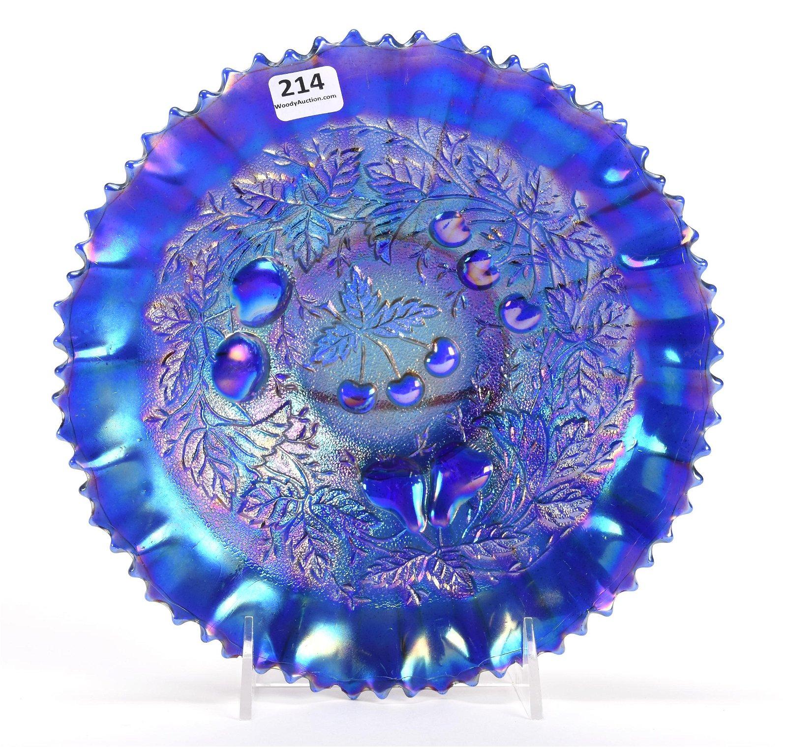 Carnival Glass Bowl, Three Fruits Pattern