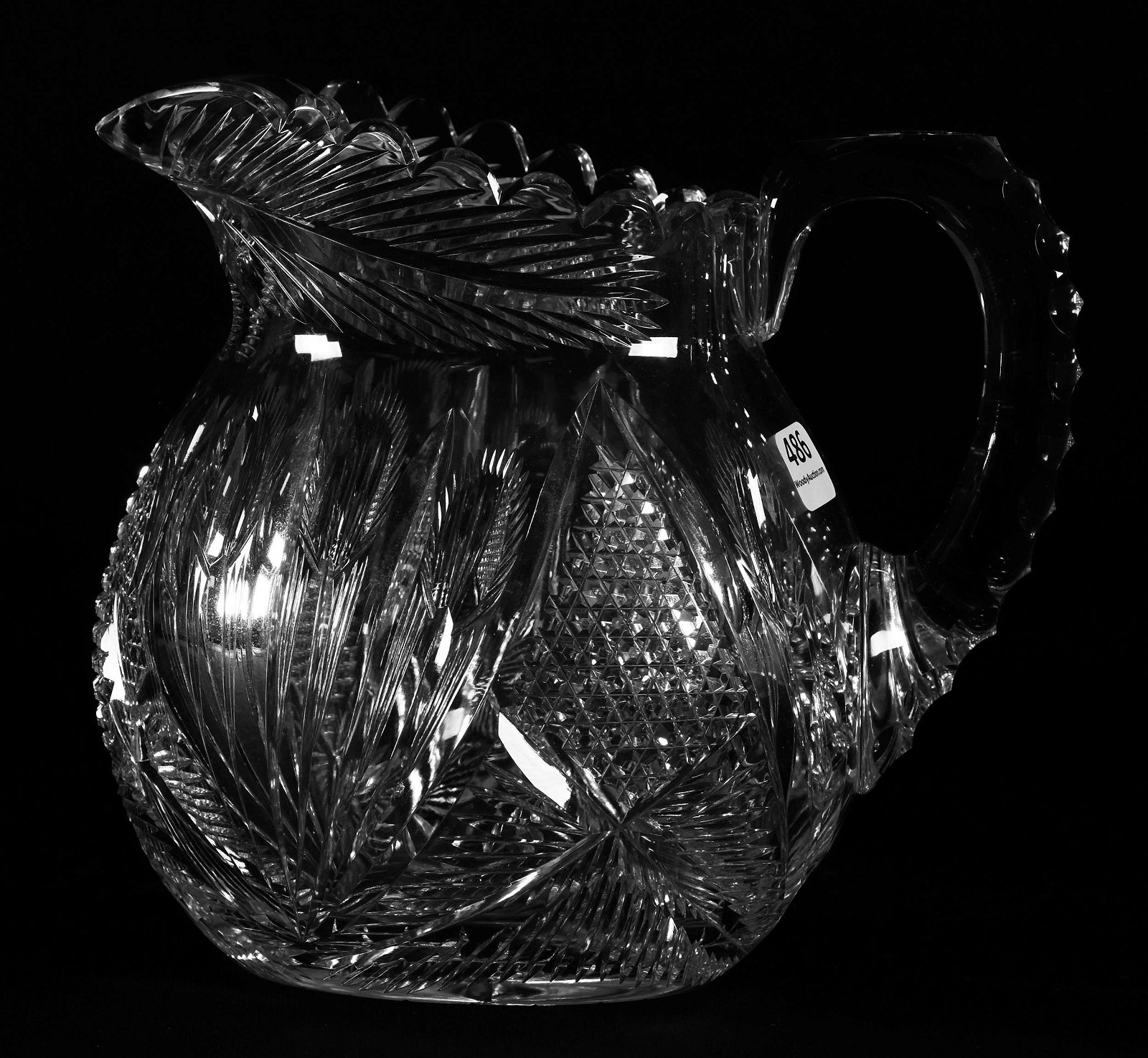 Water Pitcher, ABCG, Signed Libbey