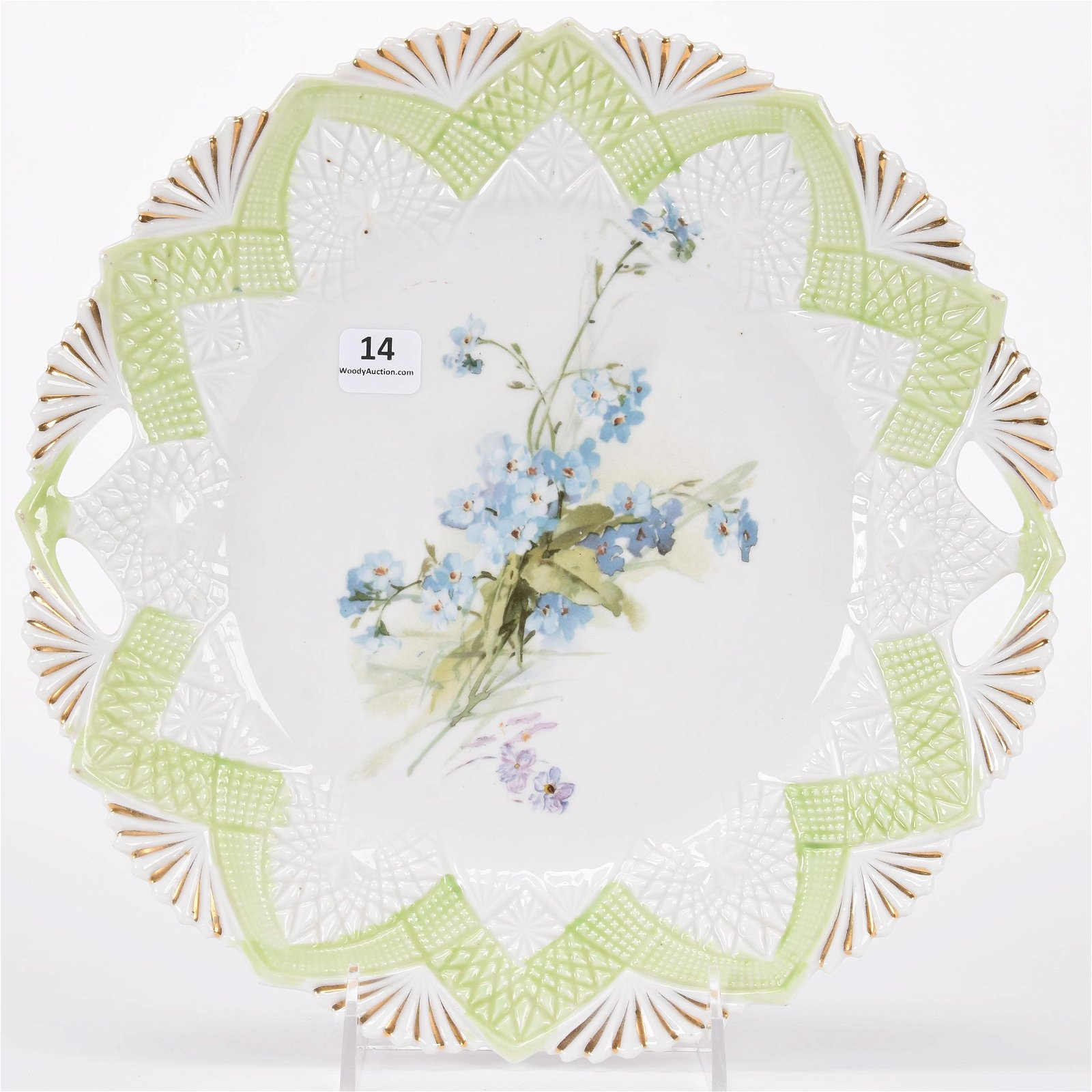 Cake plate, unmarked Prussia