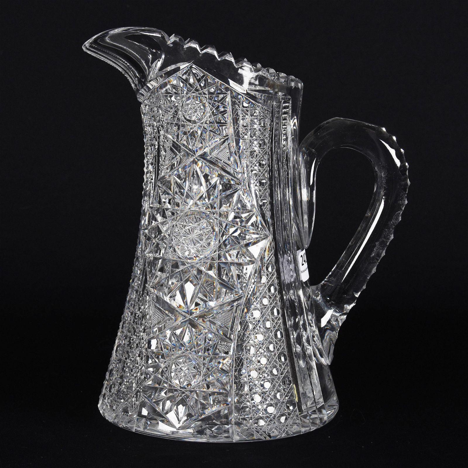 Water Pitcher, American Brilliant Cut Glass