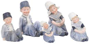 (2) Pair Heubach Bisque Figurines, Marked
