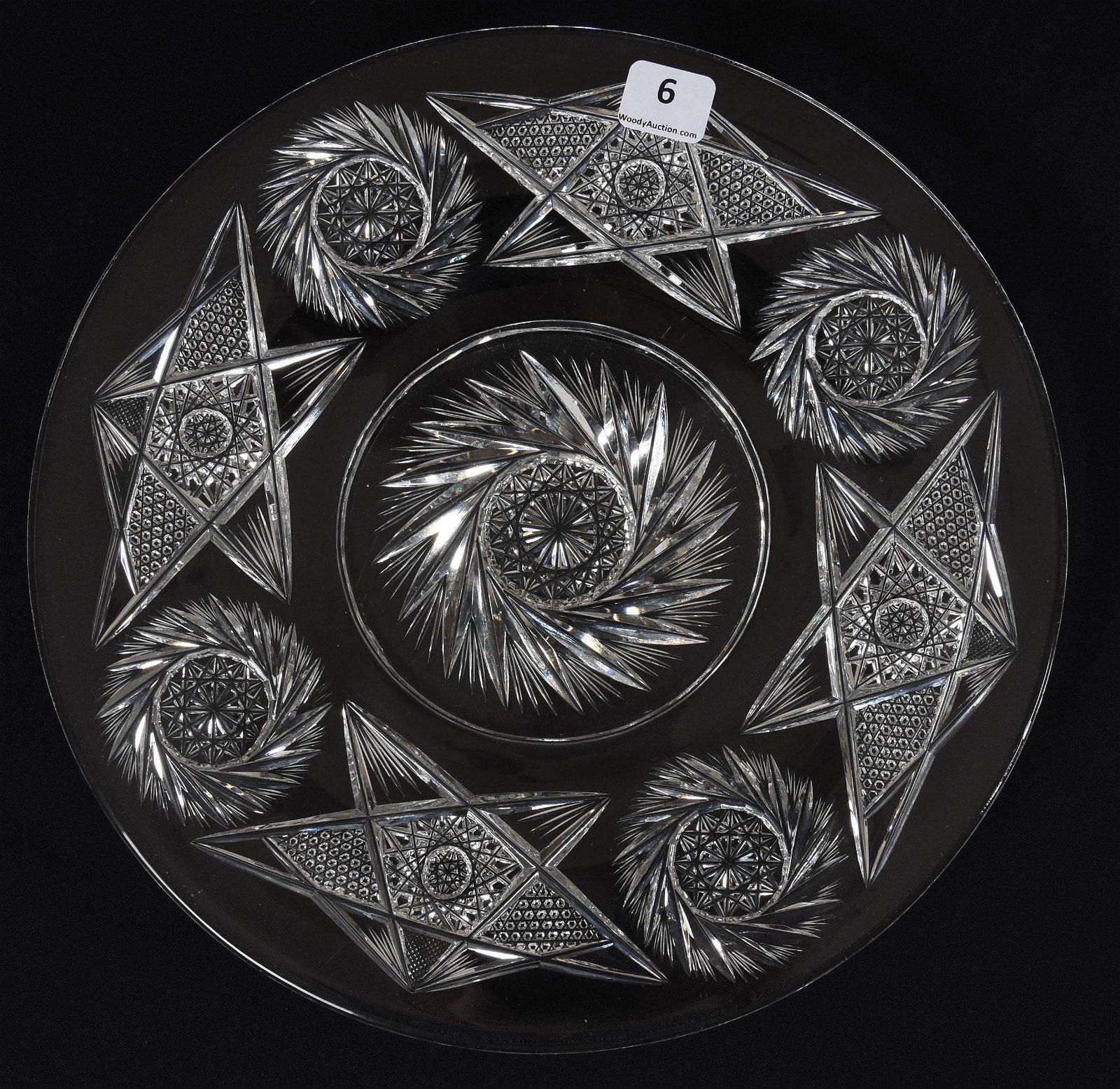 Plate, American Brilliant Cut Glass