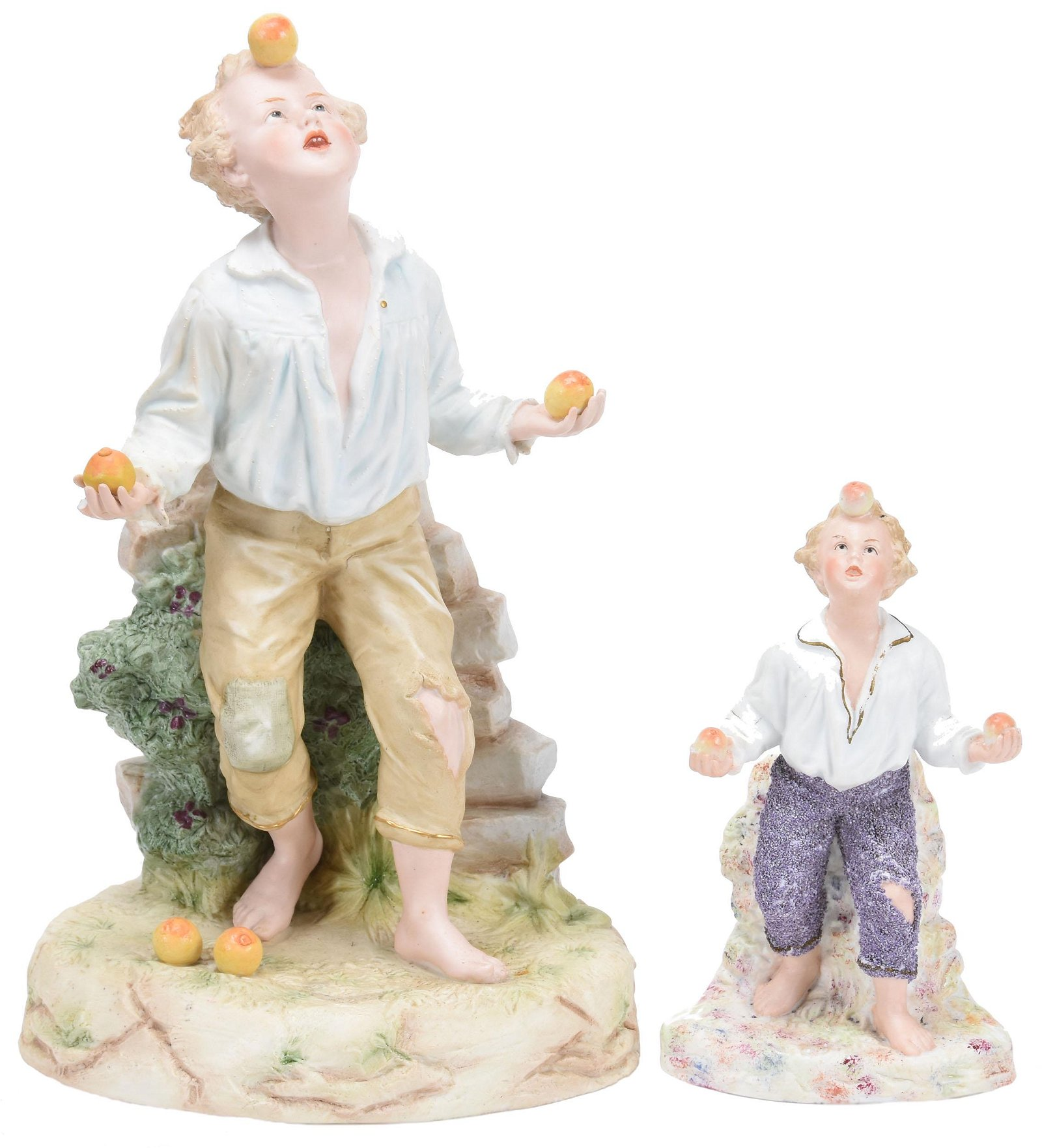 (2) Heubach Bisque Figurines, Marked