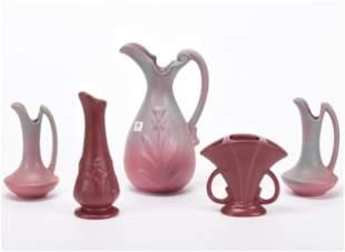 (5) Niloak Art Pottery Items