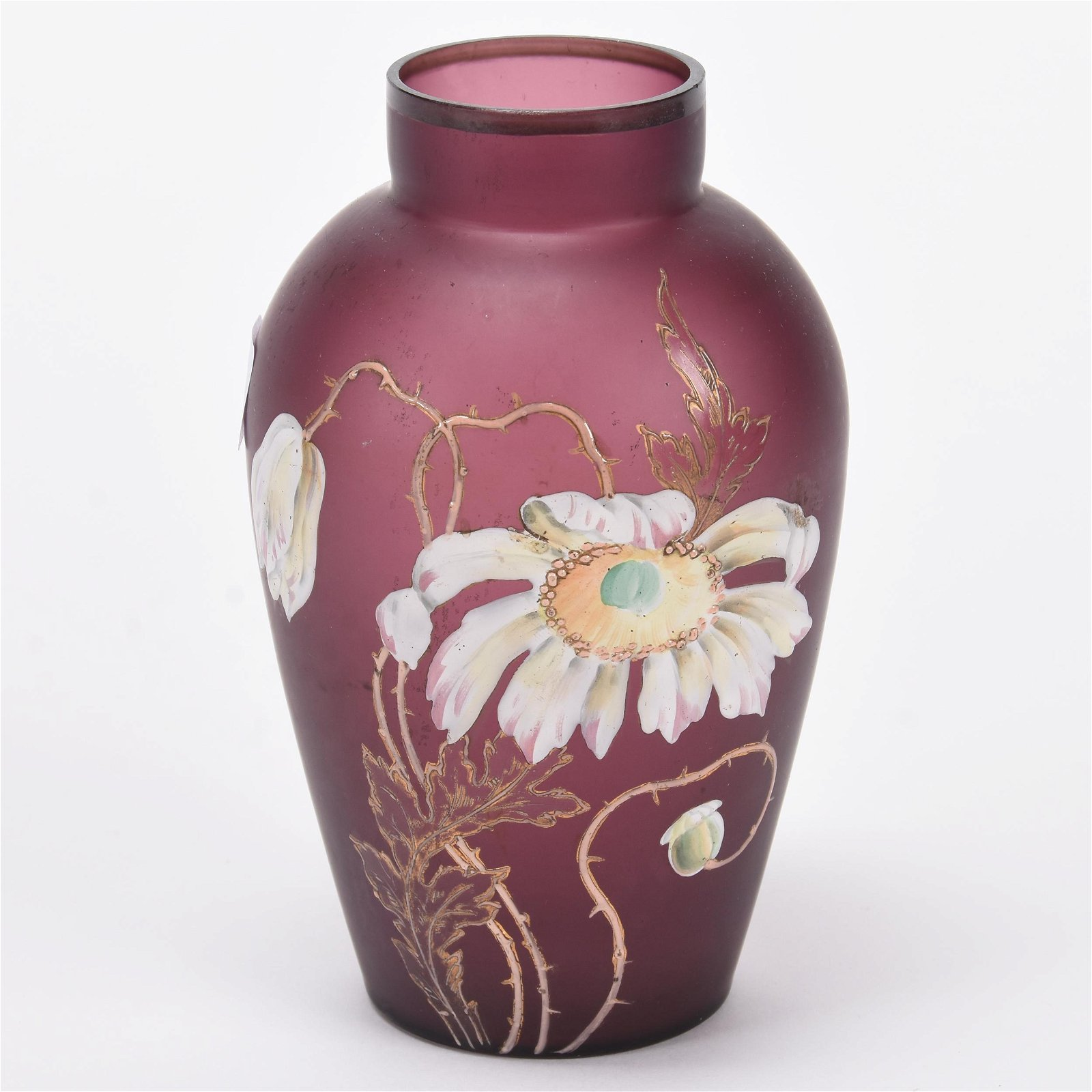 Vase, Unmarked Mt. Joye Style Art Glass