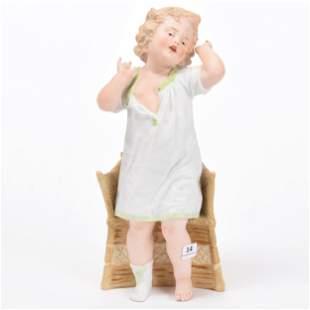 Heubach Bisque Figurine, Marked