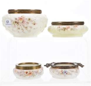(4) Open Pin Dishes, Wave Crest (Banner Mark)
