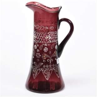 Tankard, Amethyst Art Glass