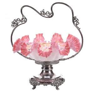 Rare Victorian Brides Basket