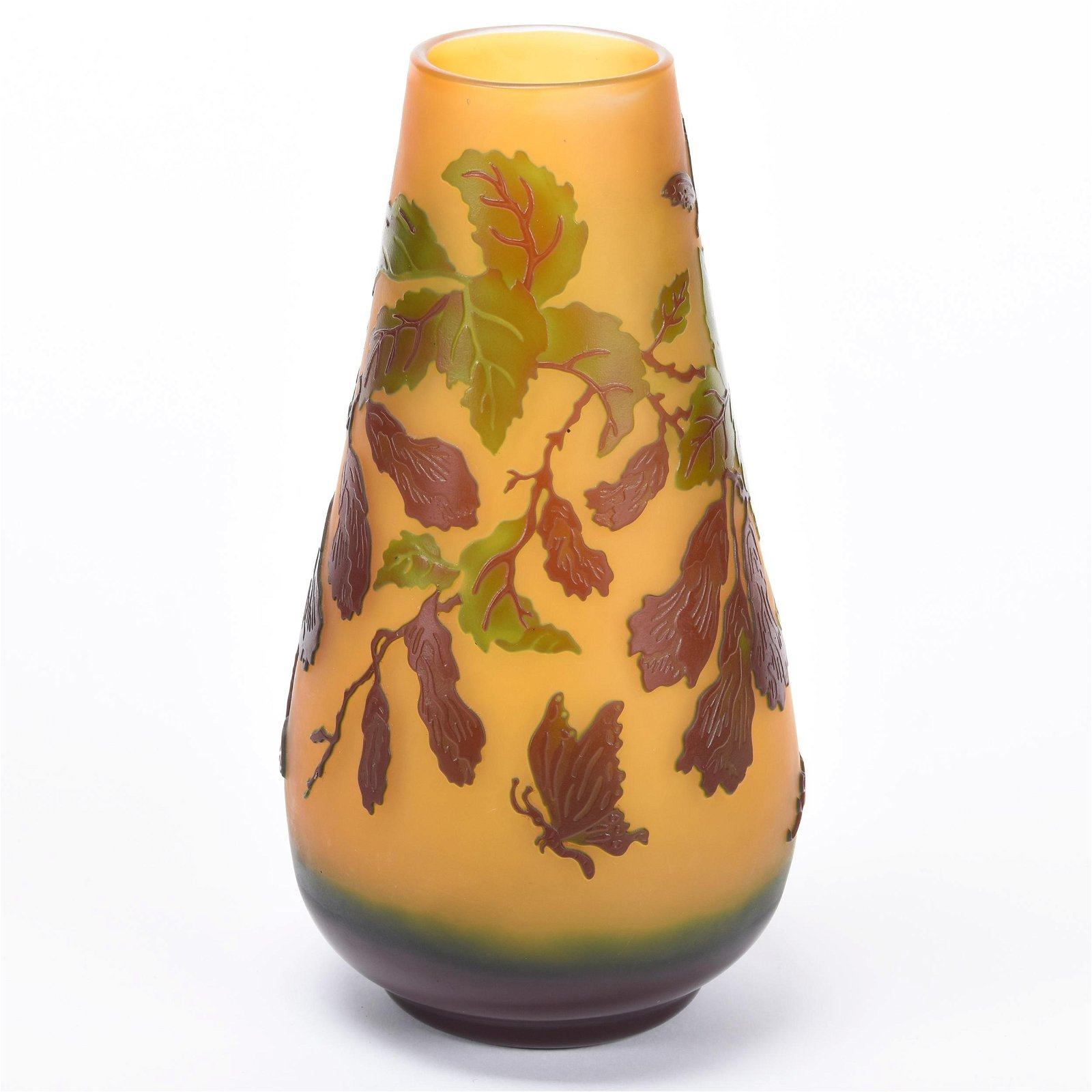 Reproduction Galle Cameo Glass Vase