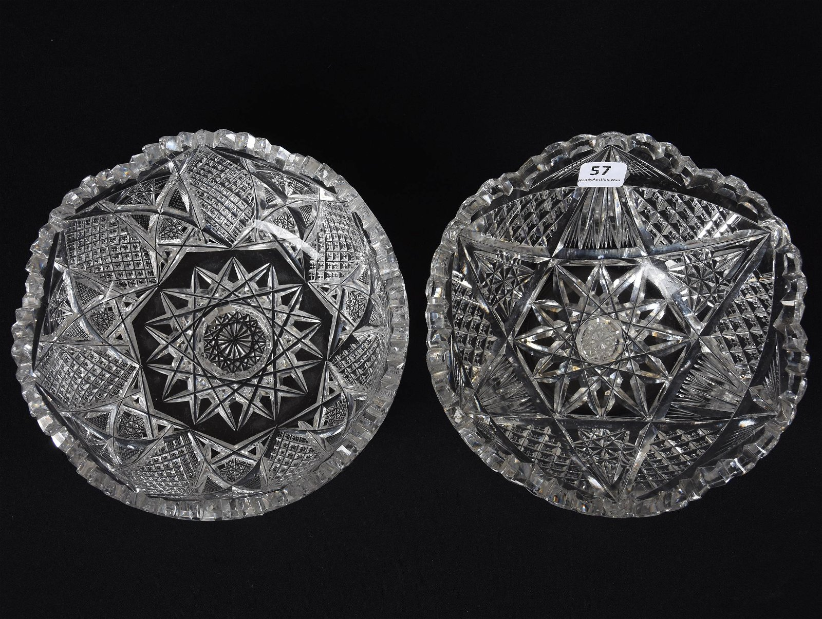 (2) Bowls, American Brilliant Cut Glass