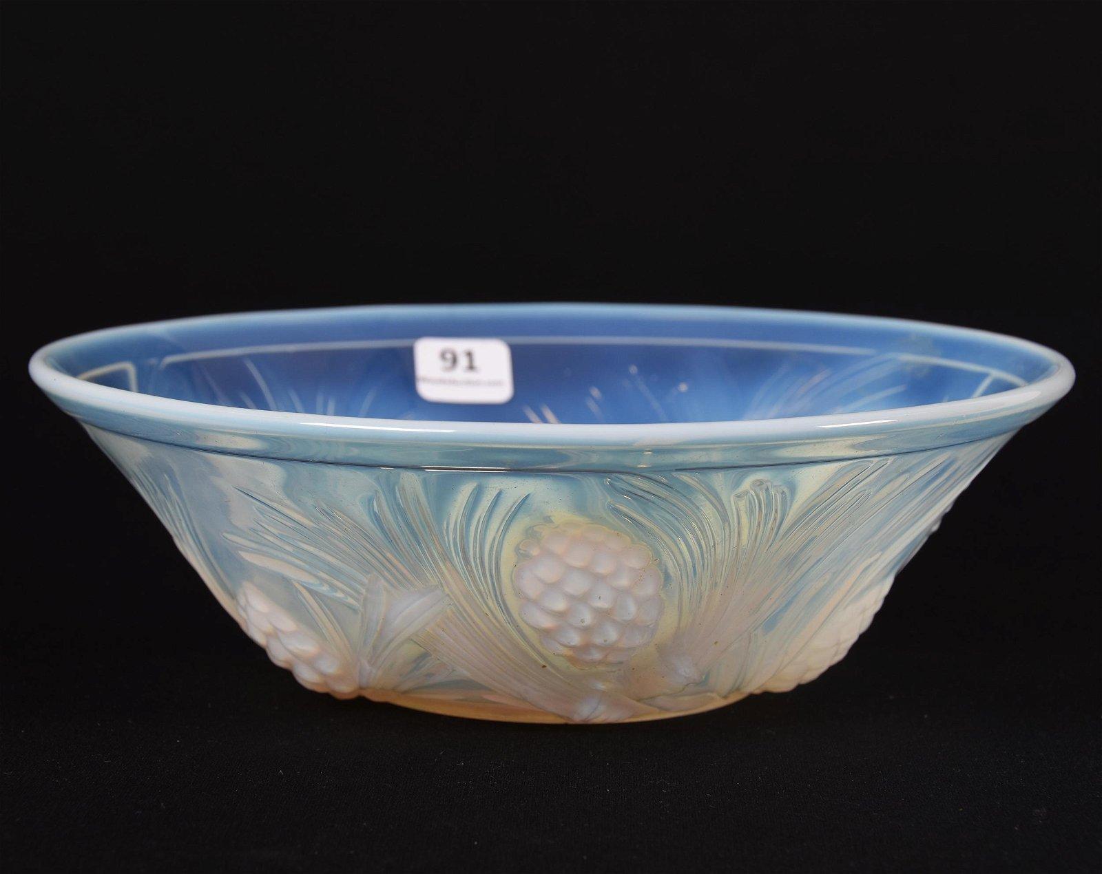 Bowl, White Opaque Art Glass