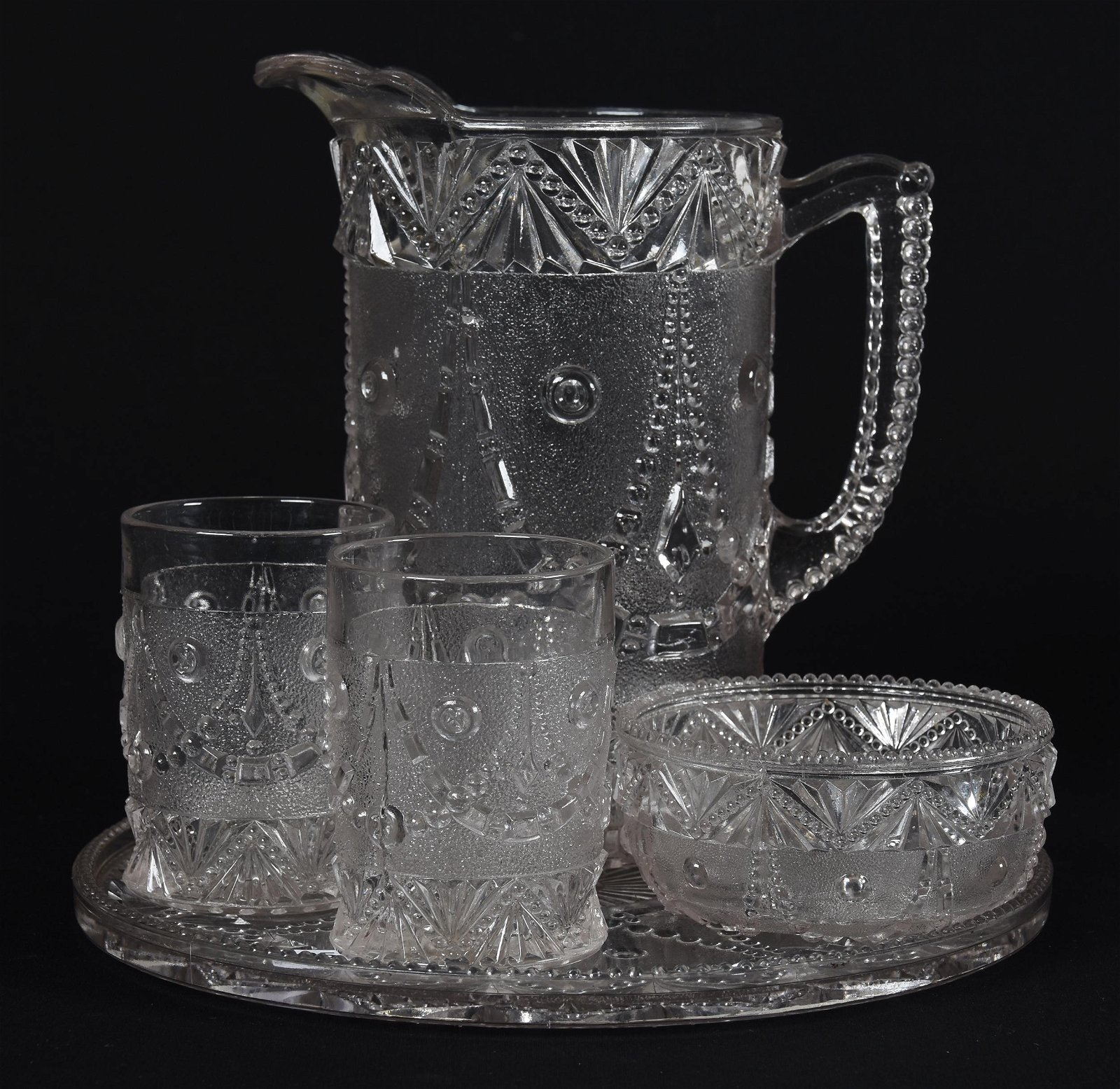 Early Pattern Glass Water Set