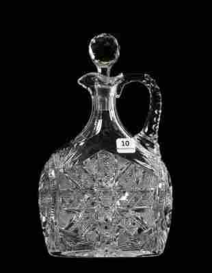 Decanter, ABCG, Signed J. Hoare Aztec Pattern