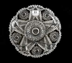 "Plate, American Brilliant Cut Glass, 7"""