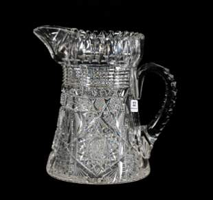 Water Pitcher, ABCG, Marquise Pattern By J. Hoare